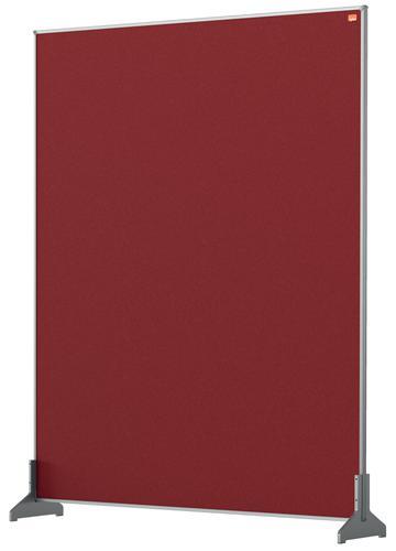 Nobo Impression Pro Desk Divider 800x1000mm Red