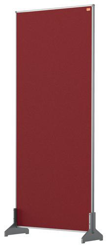 Nobo Impression Pro Desk Divider 400x1000mm Red