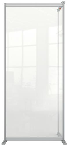 Nobo Premium Plus Clear Acrylic Protective Room Divider Screen Modular System Extension 800x1800mm