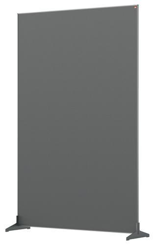 Nobo Impression Pro Free Standing Room Divider Screen Felt Surface 1200x1800mm Grey