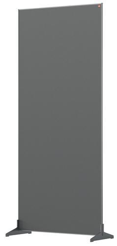 Nobo Impression Pro Free Standing Room Divider Screen Felt Surface 800x1800mm Grey