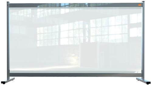 Nobo Premium Plus Clear PVC Protective Desk Divider Screen 1400x800mm