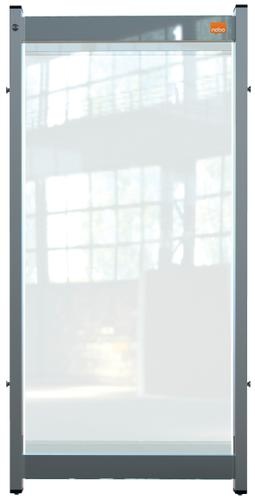 Nobo Premium Plus Clear PVC Modular Desk Divider Screen System 400x820mm