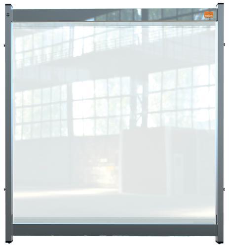 Nobo Prem Clear PVC Mod System Desk Dvdr Scrn 750x820mm