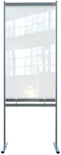 Nobo Premium Plus Clear PVC Free Standing Protective Divider Screen 700x2000mm