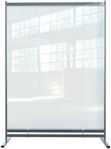 Nobo Premium Plus Clear PVC Free Standing Protective Room Divider Screen 1400x2000mm