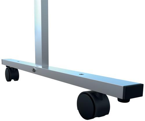 Nobo Prem Clear PVC Protective Divider Screen Castors x4