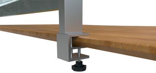 Nobo Premium Plus Clear PVC Protective Desk Divider Screen Clamp (x2)
