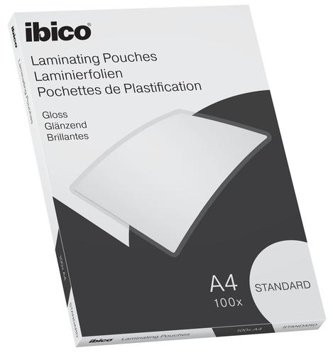 Ibico Basics Standard A4 Laminating Pouches Crystal clear (Pack 100)