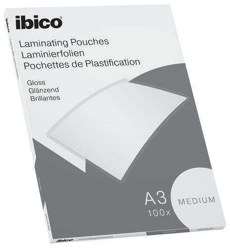 Ibico Basics Medium A3 Laminating Pouches Crystal clear (Pack 100)
