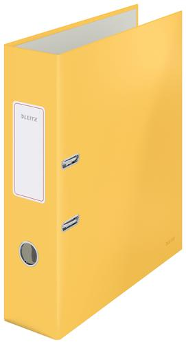 Leitz 180° Cosy Lever Arch File Soft Touch A4 - 80mm width - Warm Yellow - Outer carton of 6