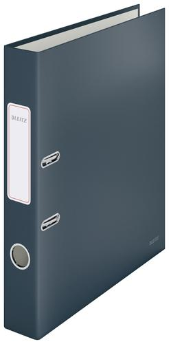 Leitz 180° Cosy Lever Arch File Soft Touch A4 - 50mm width - Velvet Grey - Outer carton of 6