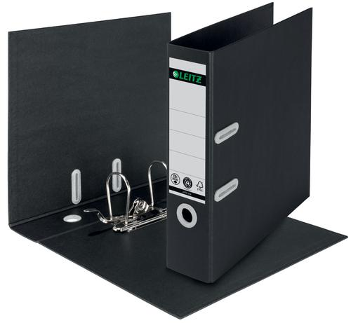 Leitz LAF180 Recycled 80mm A4 Black (Pack of 10) 10180095 by ACCO Brands, LZ12713
