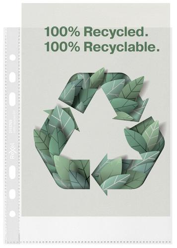Rexel Pocket Recycled PP 70 Micron A5 PK100 2115703