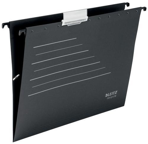 Leitz Alpha® Recycle Card Suspension File V-base - A4 - Black