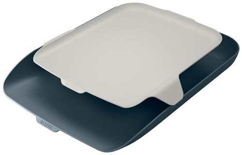 Leitz Cosy Letter Tray with Desk Organiser A4 - Velvet Grey