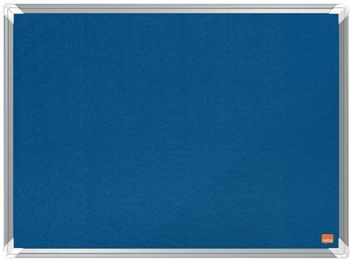 Nobo Premium Plus Blue Felt Noticeboard Aluminium Frame 600x450mm