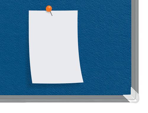 Nobo Premium Plus Felt Notice Board 2400 x 1200mm Blue 1915193 Pin Boards NB60865