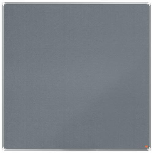 Nobo Premium Plus Grey Felt Noticeboard Aluminium Frame 1200x1200mm