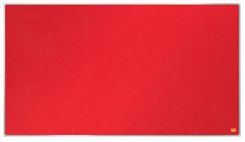 Nobo Impression Pro Widescreen Red Felt Noticeboard Aluminium Frame 890x500mm