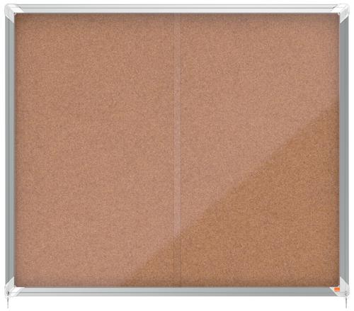 Nobo Premium Plus Cork Lockable Noticeboard Display Case 15 x A4 1140x970mm