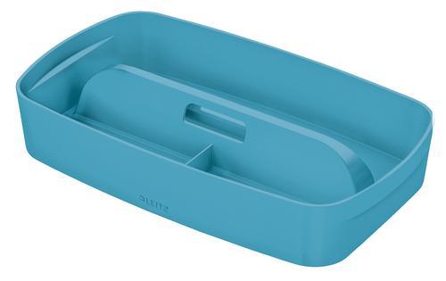 Leitz MyBox Cosy Organiser Tray with handle Small - Storage - W 307 x H 56 x D 181 mm - Calm Blue