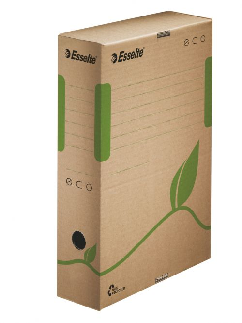 Esselte Eco A4 Archiving Box, 80mm, Brown  - Outer carton of 25