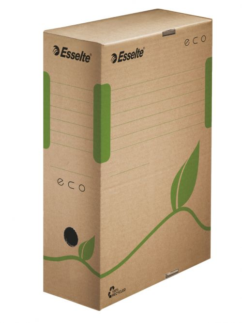 Esselte Eco A4 Archiving Box, 100mm, Brown  - Outer carton of 25