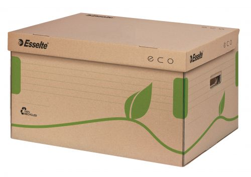 Esselte Eco Storage and Transportation Box, 5 x 80mm- Brown - Outer carton of 10