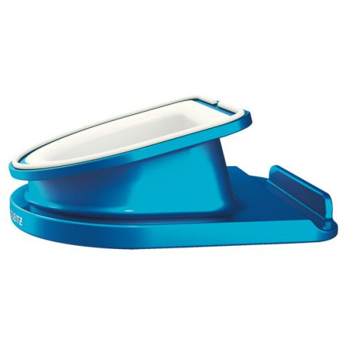 Leitz WOW Complete Rotating Desk Stand for iPad/tablet PC Blue Metallic