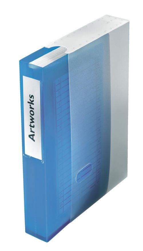 Esselte Dataline CD Storage Book for 48 CDs - Grey/ Blue