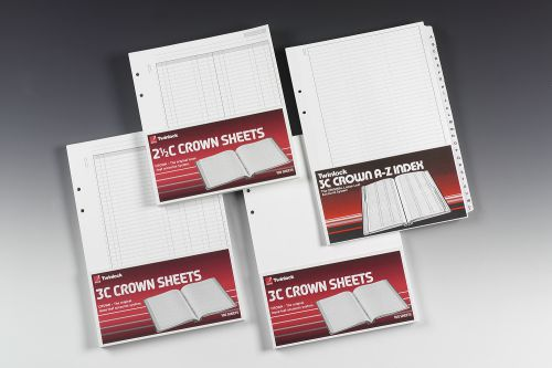 Rexel Twinlock Crown 3C Refill Sheets Double Cash Ledger (Pack of 100 Sheets) - Outer carton of 5