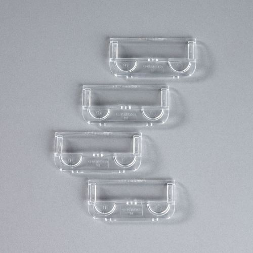 Rexel Crystalfile Plastic Suspension File Tab Clear (Pack of 50) 78020