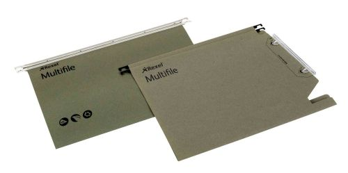 Rexel Multifile Lateral File Manilla 15mm Green (Pack of 50) 78080