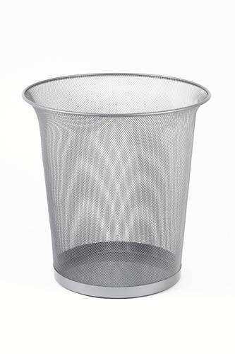 Rexel Wire Waste Bin Silver
