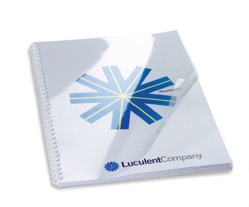GBC HiClear Binding Cover A4 200 Micron Clear CE011820E (PK100)