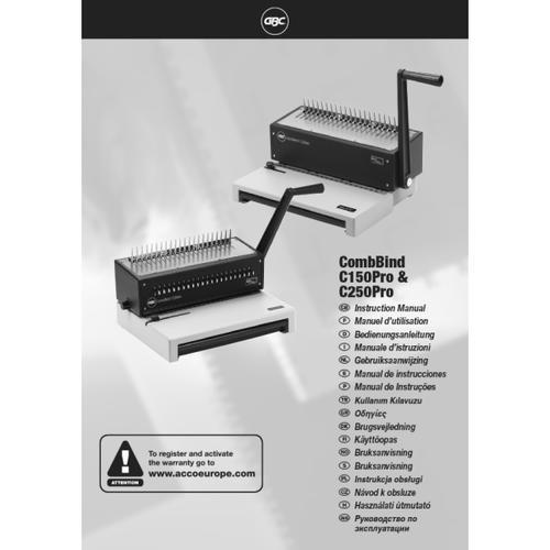 GBC CombBind® C250Pro Manual Binder White
