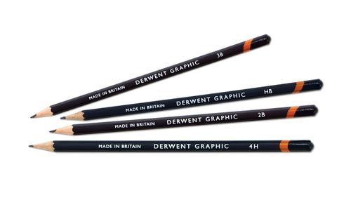 Derwent Graphic 4B Pencil - Outer carton of 12