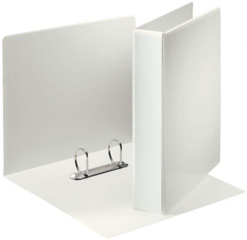 Esselte Essentials Presentation Ring Binder Polypropylene 2 D-Ring A4 40mm Rings White (Pack 10) 49739