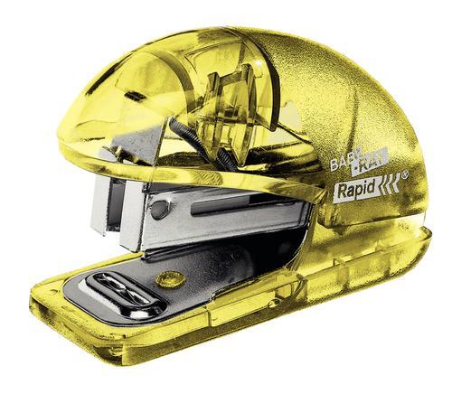 Rapid Colour'Ice Mini Stapler F4 Yellow