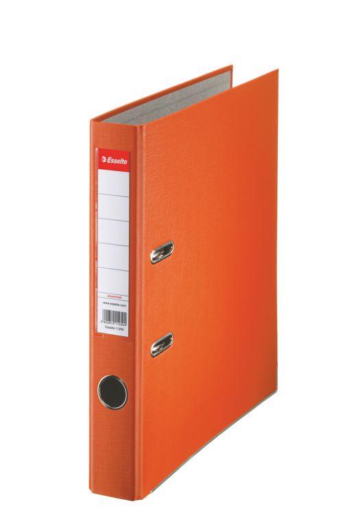 Esselte Essentials Lever Arch File Polypropylene A4 50mm Spine Width Orange (Pack 25) 81171