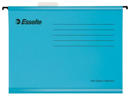 Esselte Pendaflex Plus Suspension File Manilla Cap 15mm V-base 210gsm FC Blue Ref 90334 [Pack 25]