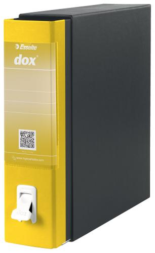 Esselte DOX 1 A4 Lever Arch File Yellow - Outer carton of 6