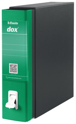 Esselte DOX 1 A4 Lever Arch File Green - Outer carton of 6