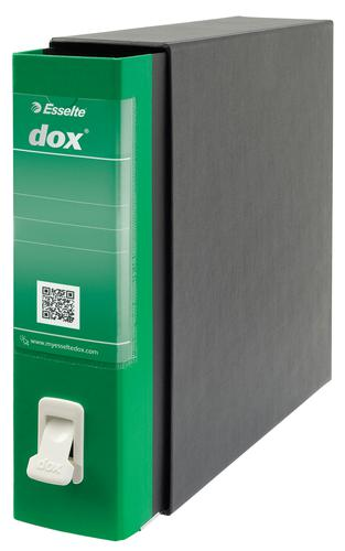 Esselte DOX 2 Class Lever Arch File Foolscap Green - Outer carton of 6