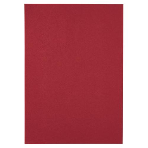 GBC LeatherGrain™ Binding Cover A4 250 gsm Red (25)
