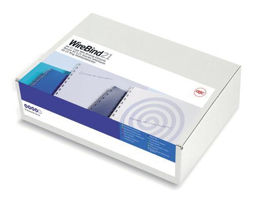 GBC IbiWire 21 Ring A4 8mm Silver IB160639 (PK100)