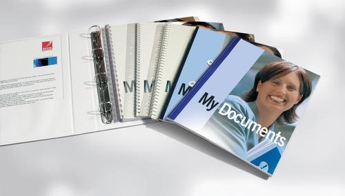 GBC WireBind & ClickBind PVC File Strips Transparent (100)