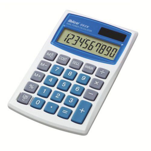 Ibico 082X Pocket Calculator White/Blue