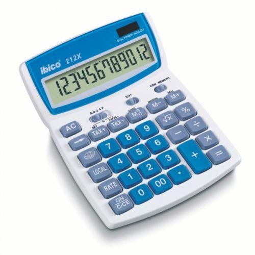 Ibico 212X Desktop Calculator White/Blue